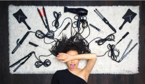 уреди за оформяне на коса, жена