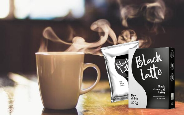 чаша кафе, black latte