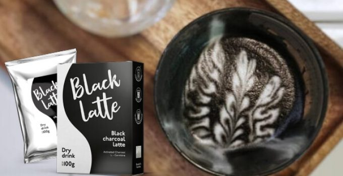 активен въглен, кафе Black Latte