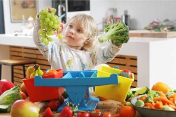 дете, зеленчуци