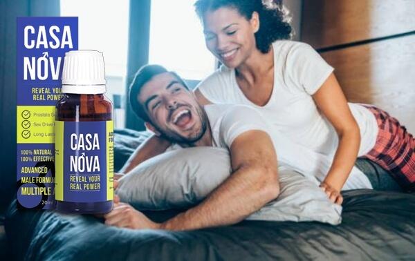 двойка се забавлява в леглото, капки Casanova