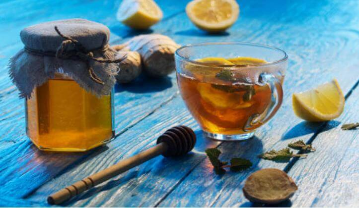 маска за коса, лимон. буркан мед