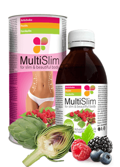 MultiSlim сироп, артишок, малини